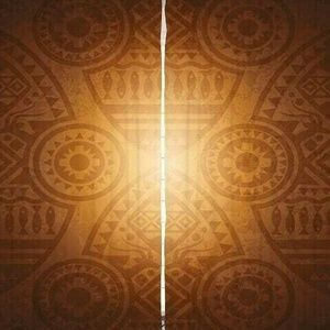 Curtains Tribal Shapes Print Backdrop 33528